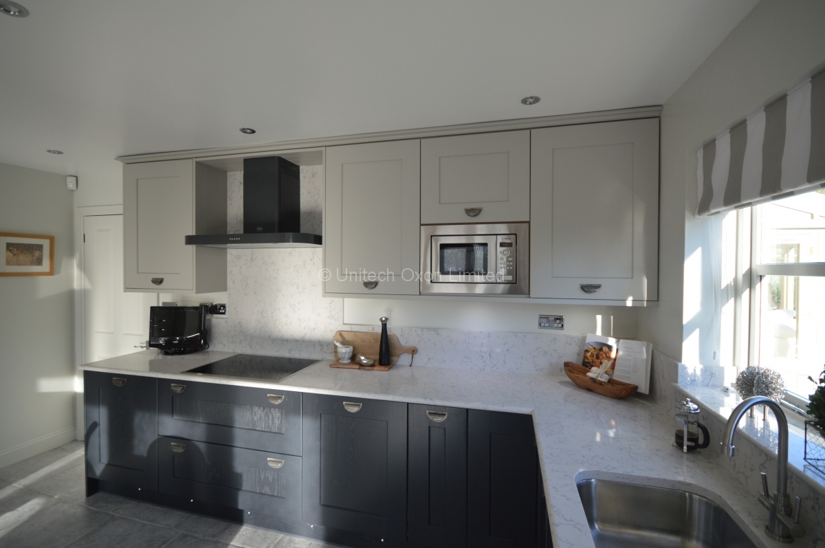 Burbidge Erin Painted Charcoal And Soft Grey Traditional Kitchen By - Soft grey kitchen