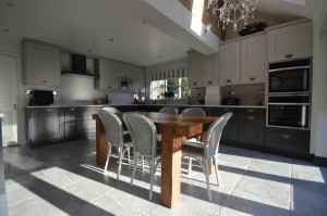 Burbidge Erin Charcoal and Soft Grey Traditional Kitchen