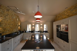 Burbidge Erin Painted Hessian Traditional Kitchen