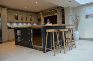 Burbidge Salcombe Grey and Charcoal Painted In-Frame Kitchen