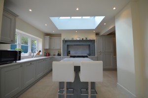Burbidge Tetbury Painted Soft Grey and Cement Traditional In-Frame Kitchen