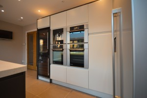 Marpatt Airo Gloss Painted Graphite and Porcelain Contemporary Kitchen