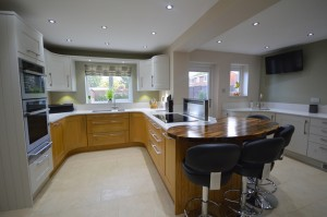 Burbidge Lansdowne Oak and French Gray Painted Oak Traditional Kitchen