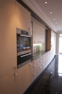Metris Kitchens Textured Wenge Contemporary Kitchen