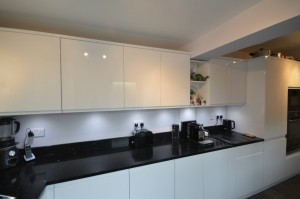 Second Nature Remo Gloss White Contemporary Kitchen